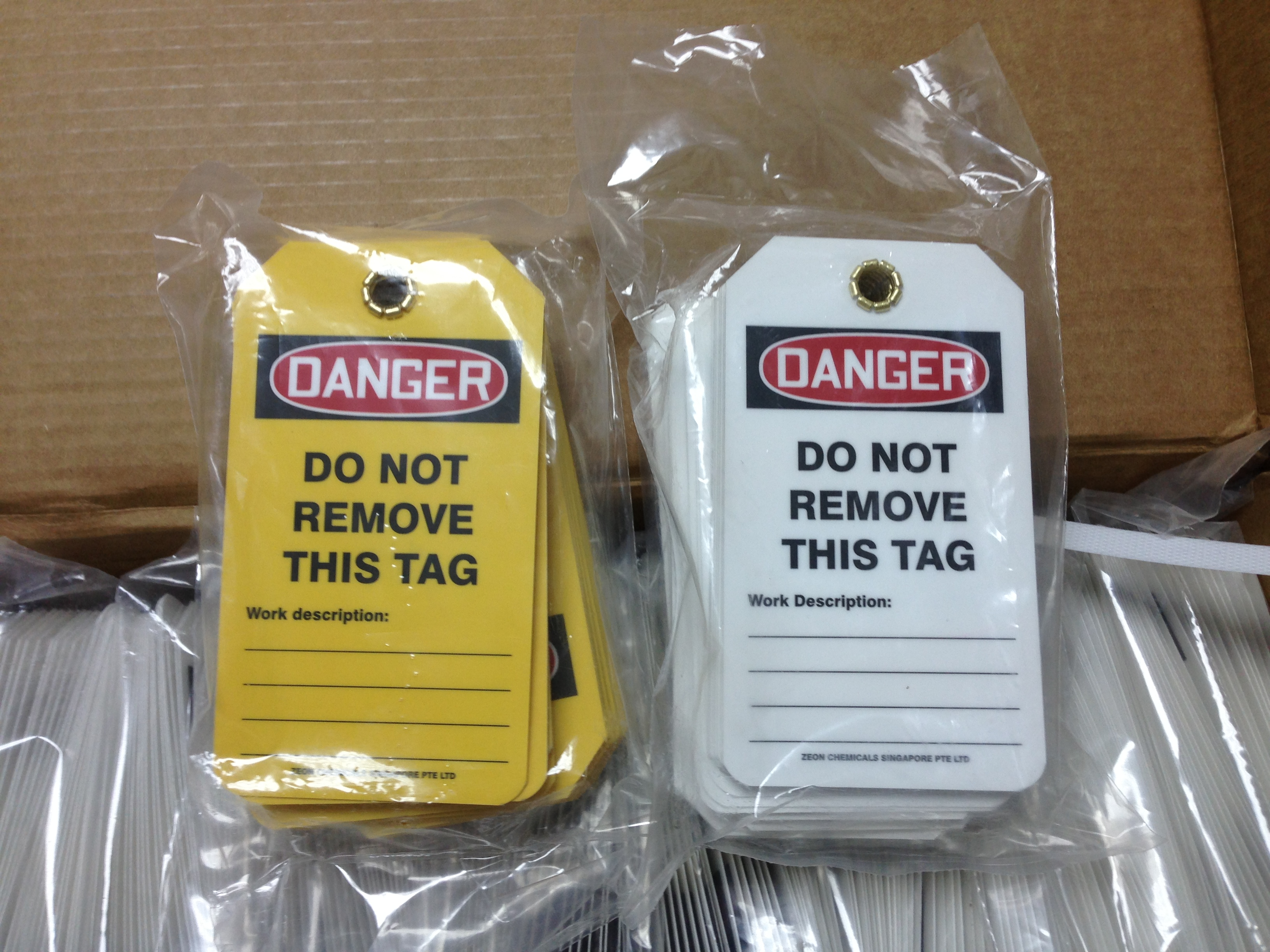 Accuform Customised Hs Laminate Loto Tags Lsh Industrial