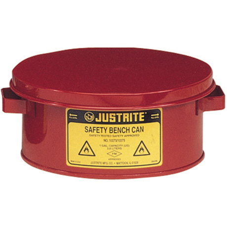 Justrite 10375 Bench Can For Solvents 1 Gallon 4l