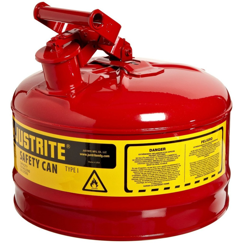 Justrite 7125100 Type I Steel Safety Can For Flammables 2