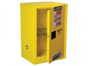 Charmant Justrite 891200 Sure Grip EX Compac Flammable Safety Cabinet, 12 Gallon, 1  Shelf, 1 Manual Close Door