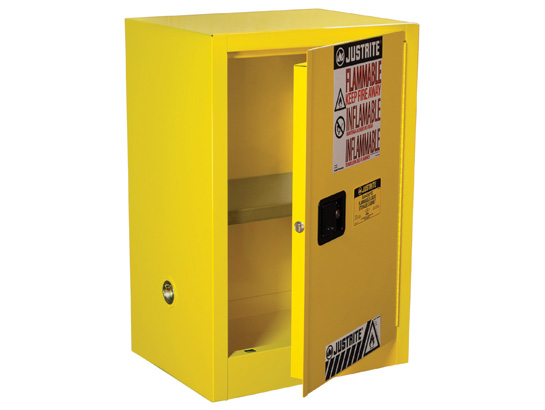 justrite 891200 sure-grip ex compac flammable safety cabinet, 12