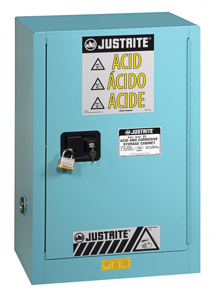 Justrite 891202 Sure Grip Ex Corrosive Acid Steel Safety