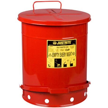 Justrite 09700 Oily Waste Can 21 Gallon 80l Foot