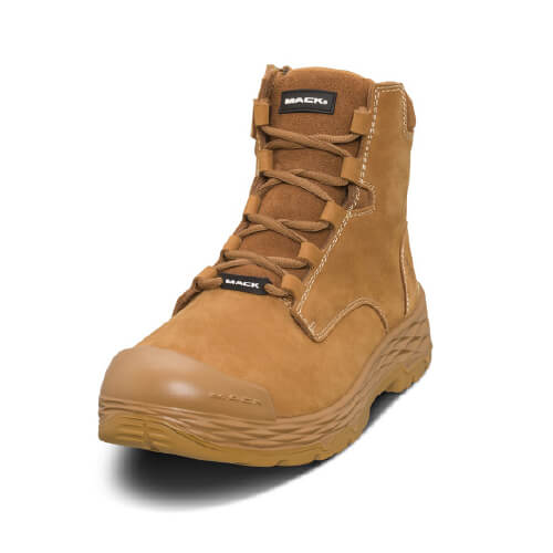 Mack Safety Boots Force Zip- Torque Range Premium Nubuck Leather (Honey)